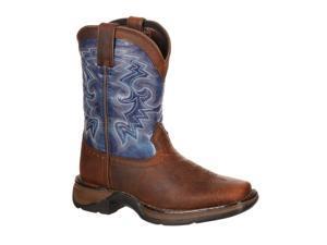 "Durango Western Boot Boy 8"" Cowboy Square Toe 5.5 Infant Brown DWBT051"