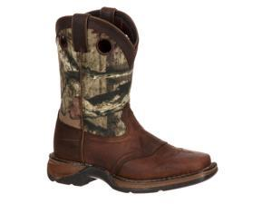 "Durango Western Boots Boys 8"" Saddle Leather 4.5 Youth Brown DBT0121"