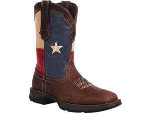 Durango Western Boots Womens Rebel Texas Square 8 ME Brown RD3446