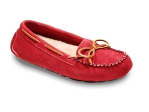 Old Friend Slippers Womens Sheepskin Jemma Moccasin 10 Ruby 441320