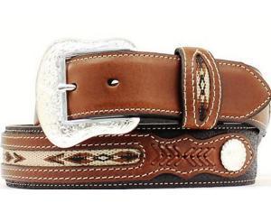 Nocona Western Belt Mens Top Hand Southwest 54 Black Brown N2475701