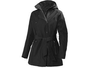 Helly Hansen Jacket Womens W Welsey Trench WP Windproof S Black 62383