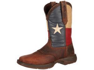 Durango Western Boots Mens Rebel Patriotic Pull On 9.5 D Brown DB4446