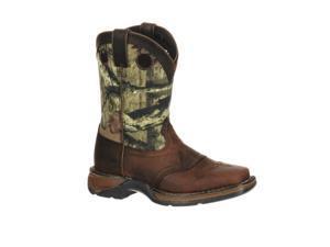 "Durango Western Boots Boys 8"" Kids Camo Saddle 1.5 Child Brown DBT0120"