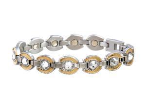 Sabona Jewelry Womens Bracelet Stainless Horseshoe L Silver Gold 216
