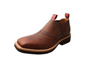 Twisted X Casual Shoes Mens Cow Dog Slip On Square 8 M Peanut MCD0007