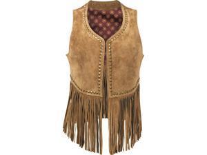 Durango Western Vest Womens Leather Company Spring Bear L Tan DLC0043