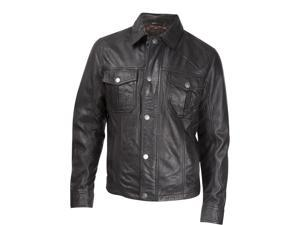 Durango Western Jacket Mens Leather Company Puncher 2XL Black DLC0032