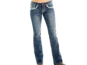 Cowgirl Tuff Western Jeans Girls Kids Show Off 8 Reg Med Wash GJSWIF