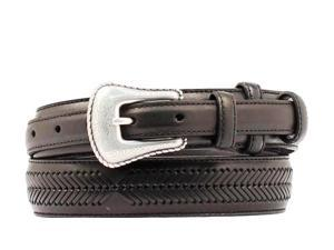 Nocona Western Belt Mens Leather Top Hand Ranger 48 Black N2476801