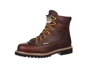 """Georgia Work Boots Mens 6"""" ST Lace Leather WP 9.5 M Chocolate GBOT053"""