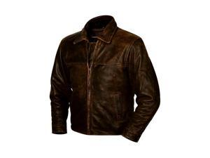StS Ranchwear Western Jacket Boys Rifleman Leather L Brown STS5463