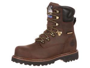 """Georgia Work Boots Mens 8"""" Hammer ST Waterproof 10 W Brown GB00055"""