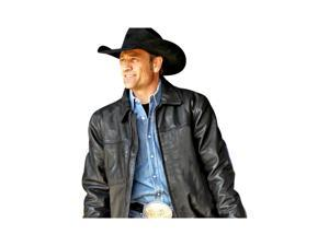 StS Ranchwear Western Jacket Boys Rifleman Leather S Black STS5465