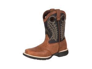 Durango Western Boots Boys Little Kid Saddle 13.5 Child Brown DBT0143