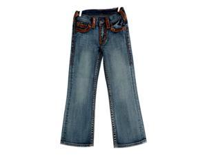 Cowgirl Tuff Western Jeans Girls Kids Gold Dust 11 Reg Med Wash GJGODU