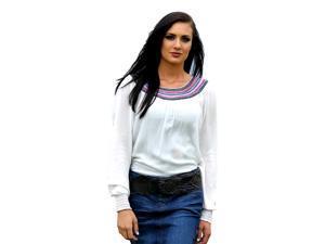 Cruel Girl Western Shirt Womens L/S Gauze Crinkle L White CTW9178001