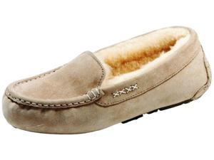 Old Friend Slippers Womens Sheepskin Bella Moccasin 7 Taupe 441310