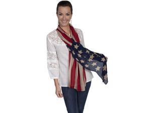 Scully Western Scarf Womens Patriotic One Size Fits All Red HC46
