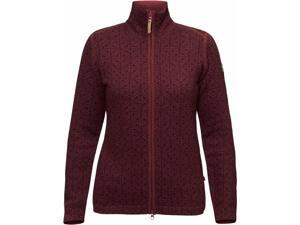 Fjallraven Outdoor Sweater Womens Ovik Frost W S Dark Garnet F89772