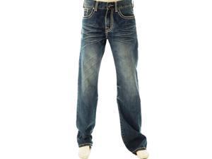 B. Tuff Western Denim Jeans Mens Nitro Whisker 32 Reg Med Wash MNITRO