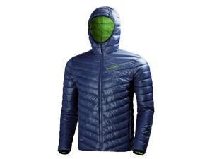 Helly Hansen Jacket Mens Long Sleeve Zipper Down L Evening Blue 62509