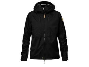 Fjallraven Outdoor Jacket Womens Eco-Shell Zipper 2XS Black F89600