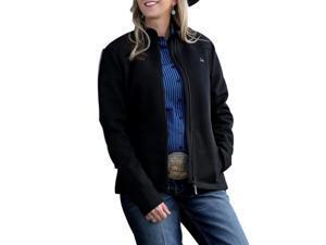 Cinch Western Jacket Womens Sweater Fleece Zip S Black MAJ7810001
