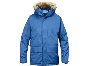 Fjallraven Outdoor Jacket Mens Keb Faux Fur Parka M UN Blue F82501