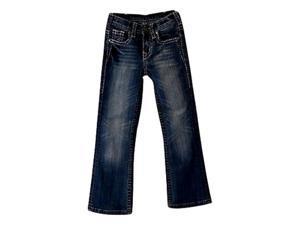 Cowgirl Tuff Western Jeans Girls Kids Show Off 7 Reg Med Wash GJSWIF
