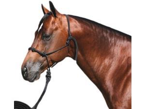 Professionals Choice Halter Clinician with 15' Nylon Lead Black HRC