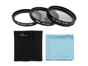 XCSource 3pcs UV CPL ND4 Filter 40.5mm + Case For SANYO HD2000 HD1000 HD1010 NX1100 NX300 NX2000 Camera LF280