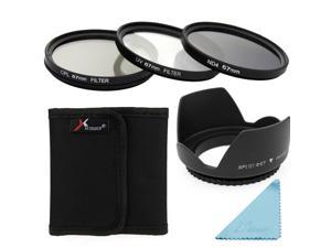 XCSource 5in1 UV CPL ND4 Filter + Lens Hood 67mm for Canon EOS 1100D 1000D 6D 7D 5D LF284