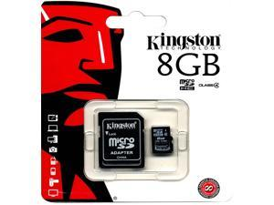 Kingston SDC4 Class 4 8GB 8G SDHC Micro Memory Card W/ Adapter + Retail Packing SDC4/8GB