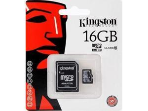 Kingston 16GB 16G MicroSDHC Micro SD HC SDHC Memory Card UHS-1 Class 10 C10 SDC10/16GB W/ Adapter + Retail Packing