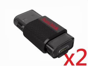 SanDisk 32GB 32G 32 GB Ultra Dual USB Drive - Standard Packaging SDDD-032G-G46 - Pack of 2