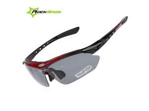 ROCKBROS Pro Polarized Cycling Glasses Bike Sports Sunglasses 5 Lens Goggles CS13