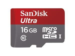 SanDisk Ultra MicroSDHC 16GB Class 10 Micro SDXC up to 48MB/s with Adapter SDHC