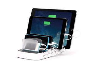 Griffin PowerDock 5 -Multi-Charger Dock Charges 5 USB devices For iPad, iPhone, iPod   Space-saving countertop charging