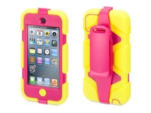 Citron/Pink Survivor Case + Belt Clip for iPod touch (5th/ 6th gen.),Extreme-duty case