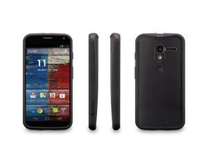Griffin - Reveal Protective Clear Case with Black Trim for Motorola Moto X - Black/Clear