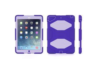 Purple/Lavender Survivor All-Terrain Case + Stand for iPad Air,Military-Duty Case- Direct from Griffin