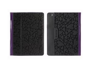 Black Hearts/Purple Folio Case for iPad 2, iPad 3, and iPad (4th gen),Multiposition folio case