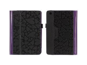 Black/Purple Hearts Folio Case for iPad mini,Folio case with workstand