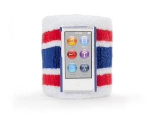 Griffin SportCuff Wristband Case, Absorbent wristband for iPod nano (7th gen.) - Red/Blue
