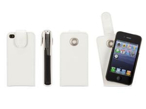 White Flip Case for iPhone 4/ 4S,Flip cover that stays put.