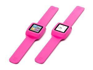 Pink Slap Bracelet Case for iPod nano (6th gen.),Flexible wristband