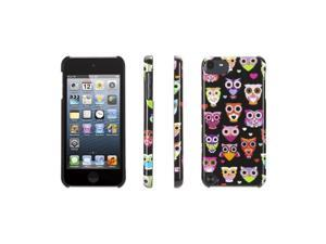 Wise Eyes for iPod touch (5th/ 6th gen.), black/pink,Hard-shell case that gives a hoot