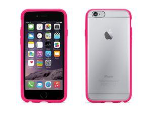 Griffin Reveal Clear Protective Case with Hot Pink Trim for iPhone 6 4.7   Ultra-thin hard-shell case