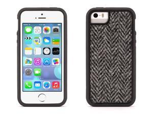 Black Harris Tweed Identity Protective Case for iPhone 5/5s, iPhone SE,Style and protection in a two-piece case